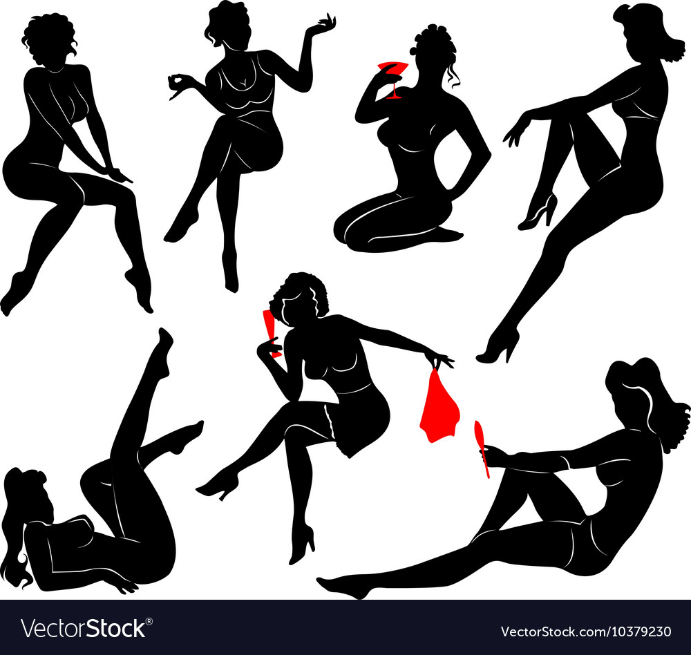 Pin up girl  2 vector