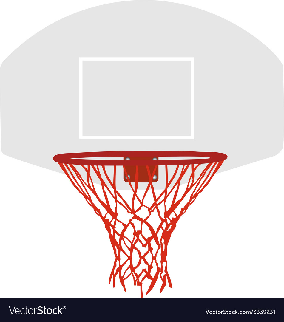 Grey basketball basket vector