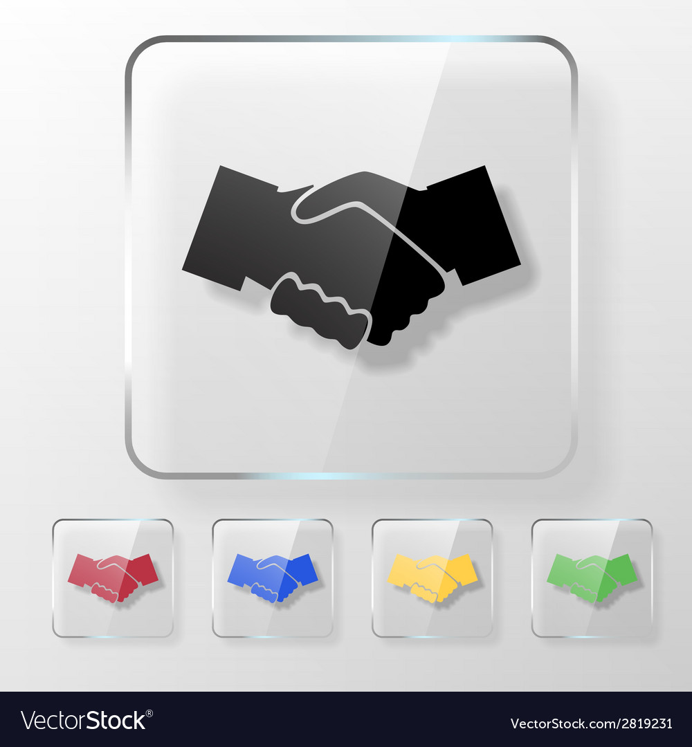 Hands shake icon vector