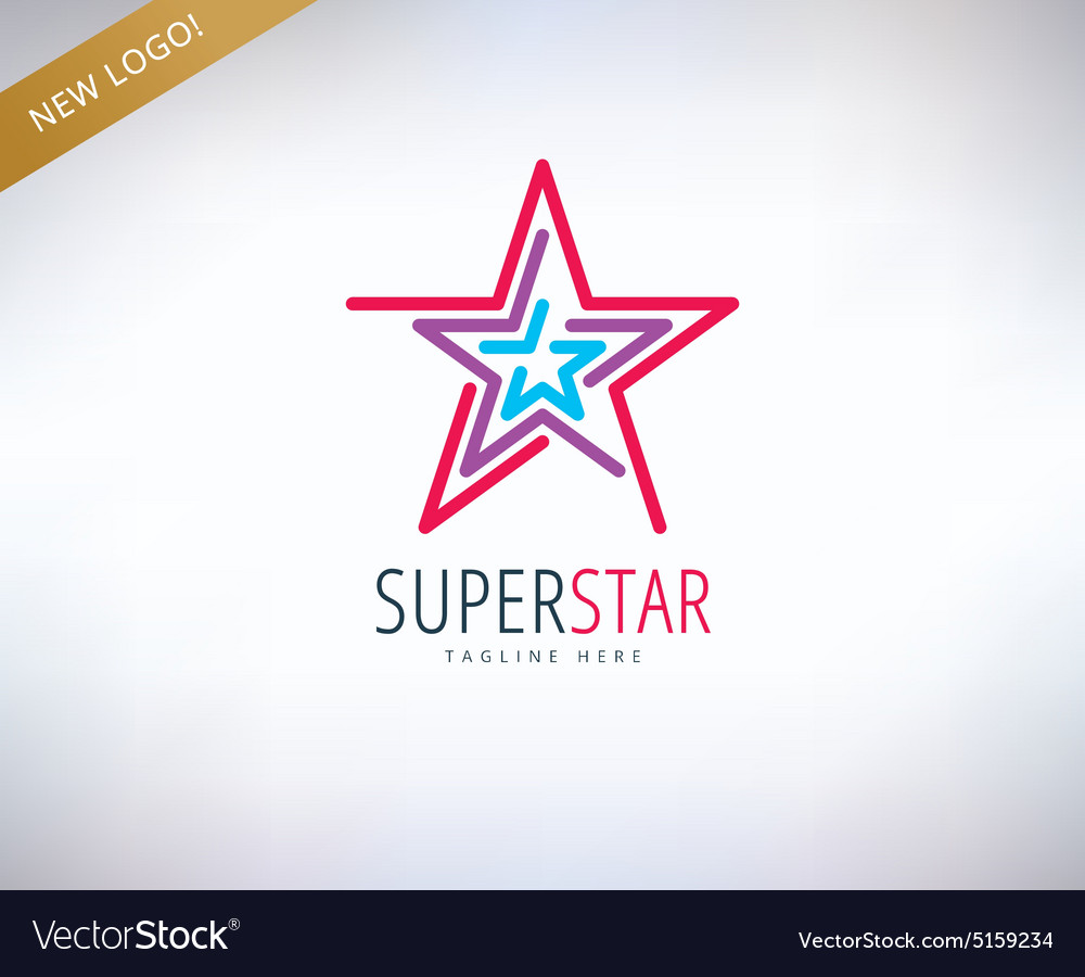 Star logo icon leader winner rank or vector