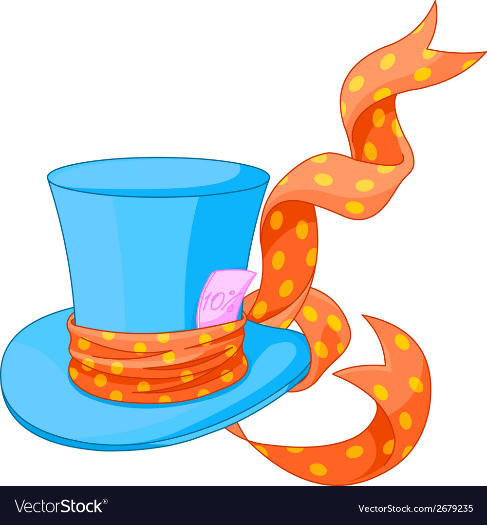 Top hat of mad hatter vector