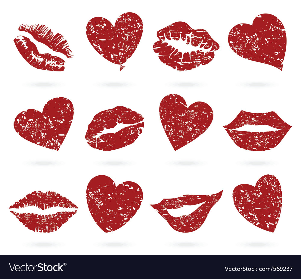 Lip icons vector