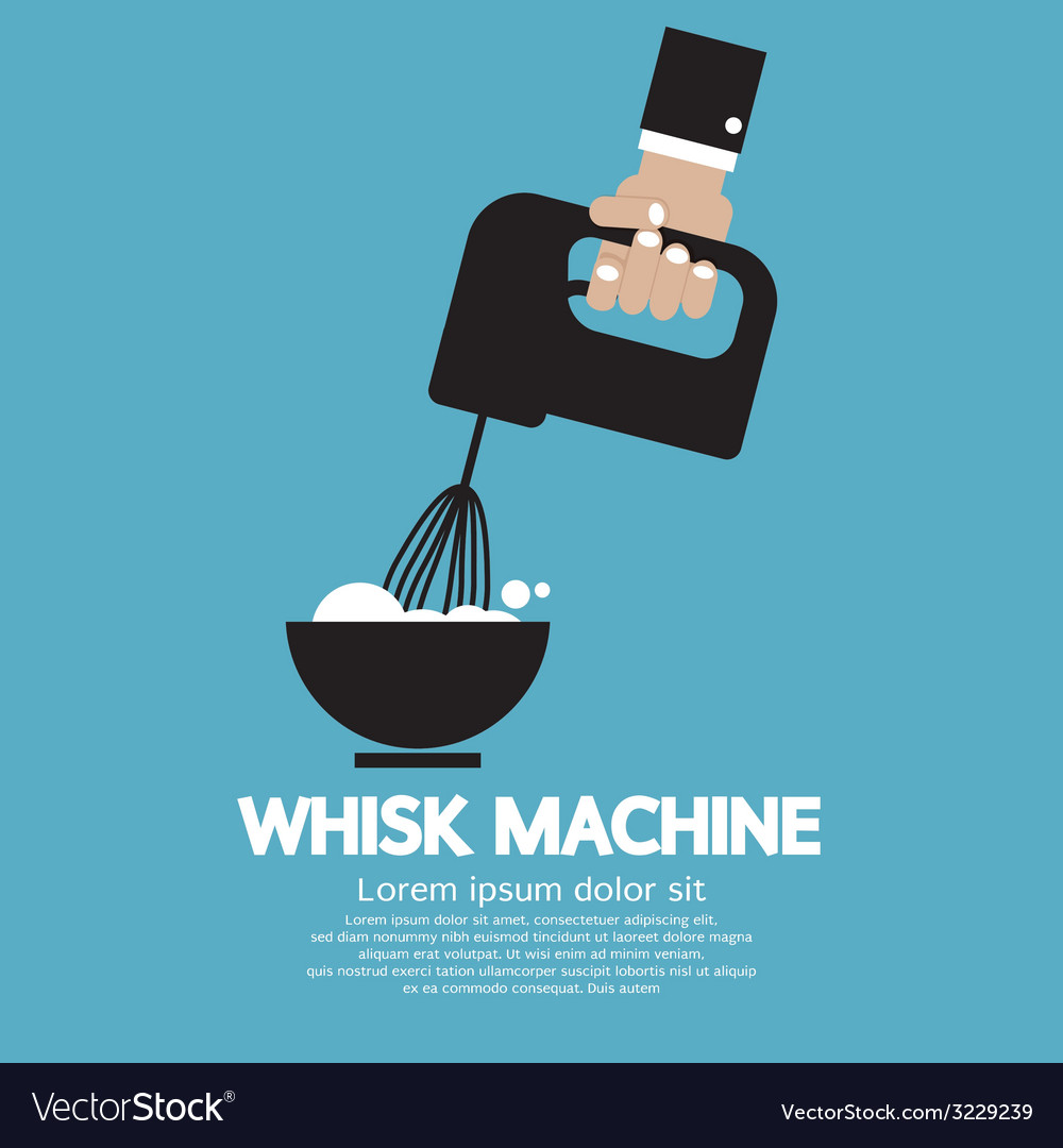 Cooking with whisk machine vector