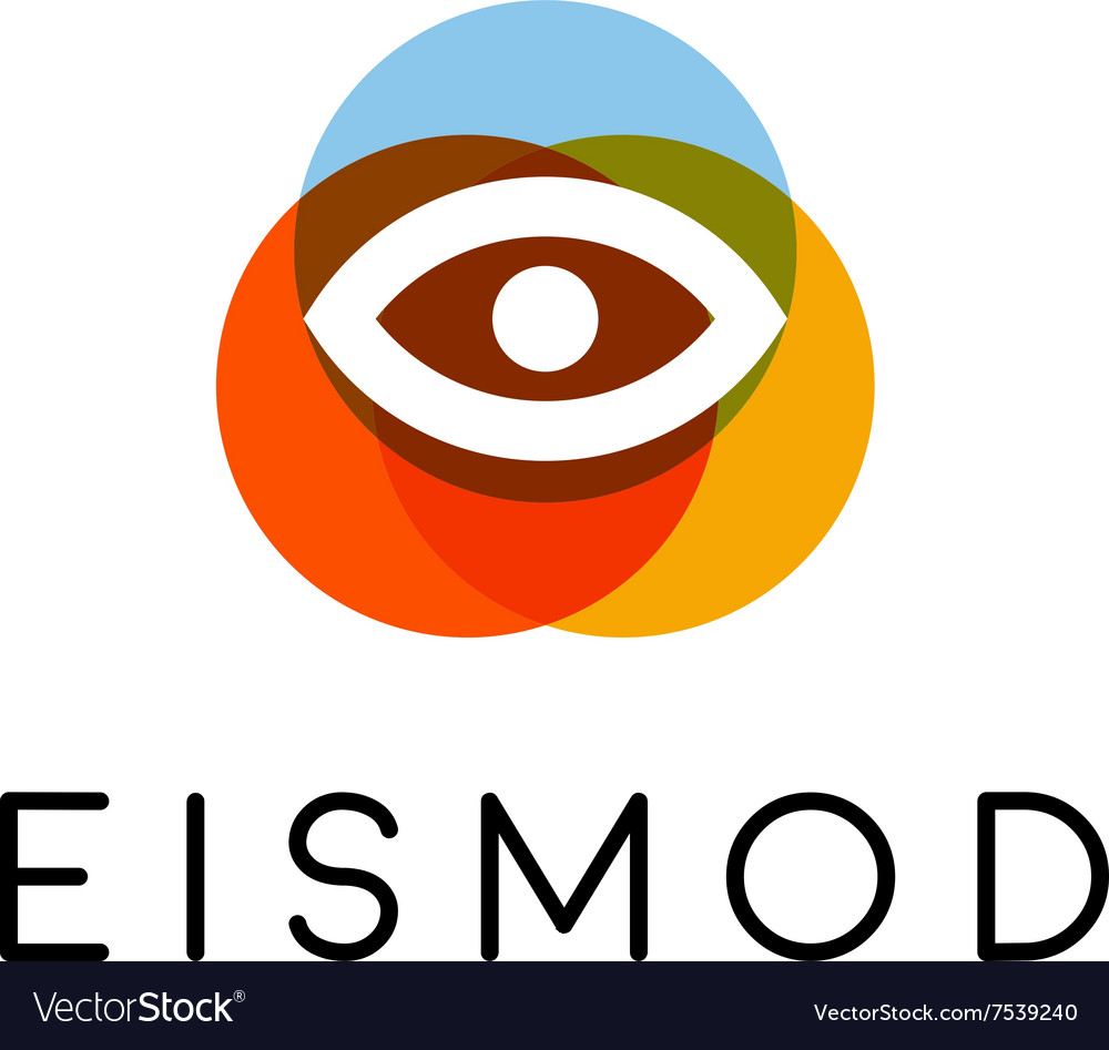 Abstract eye logo design optical creative symbol vector