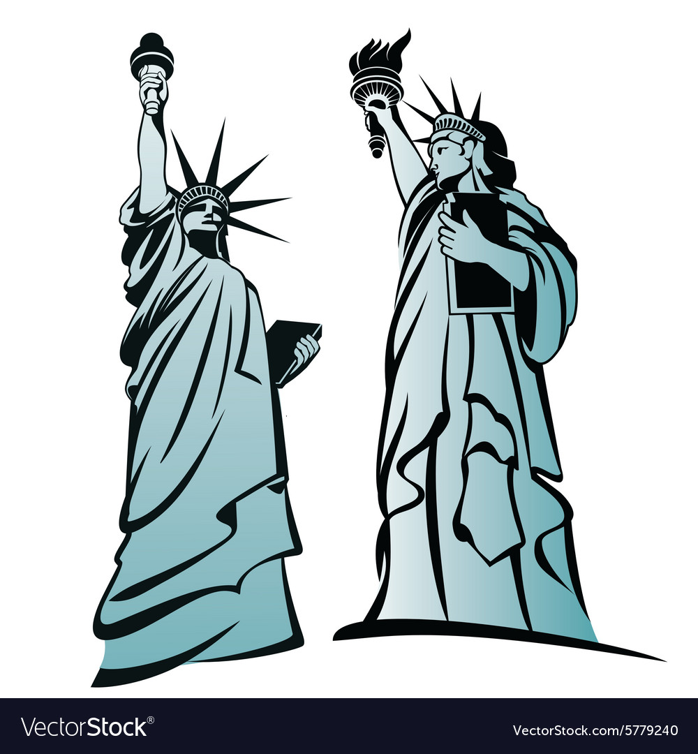 Statue of liberty 3 vector