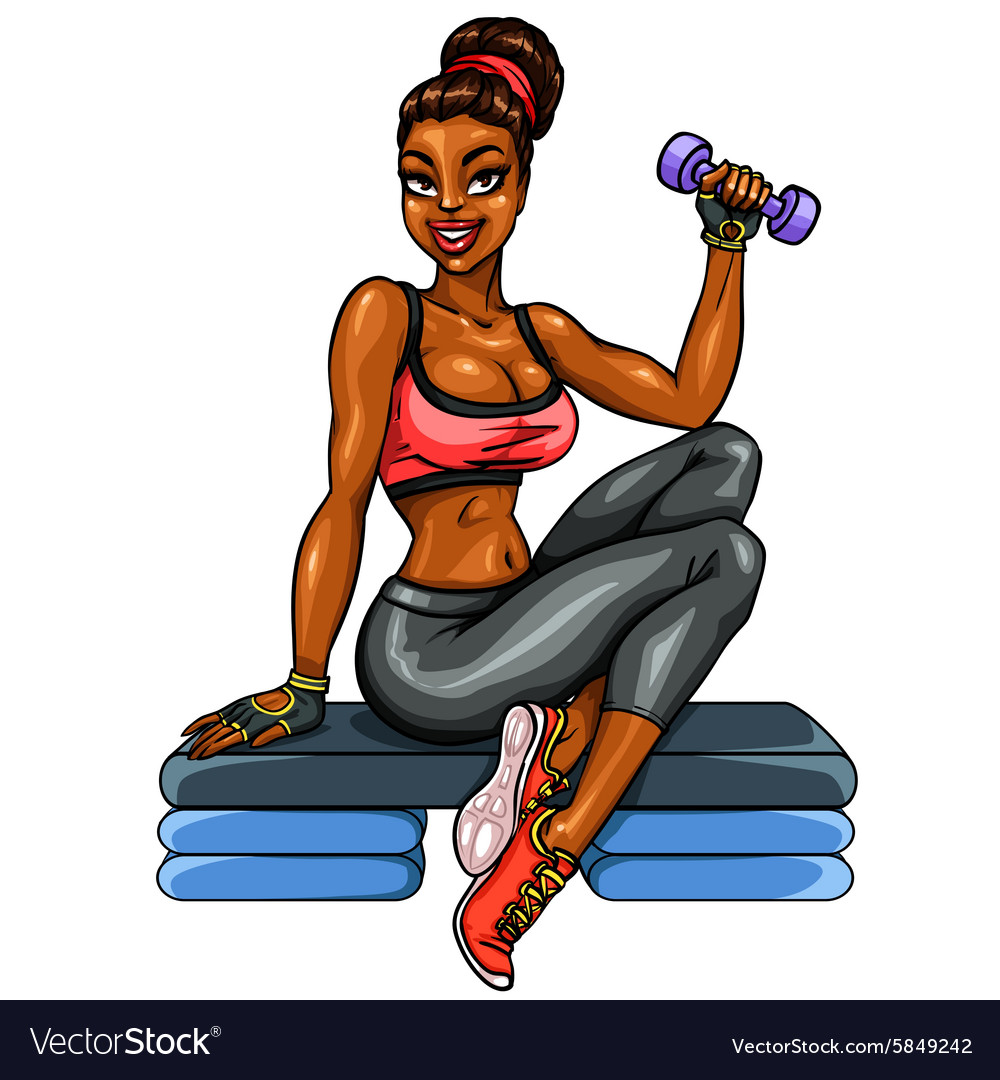 Beautiful fit woman vector