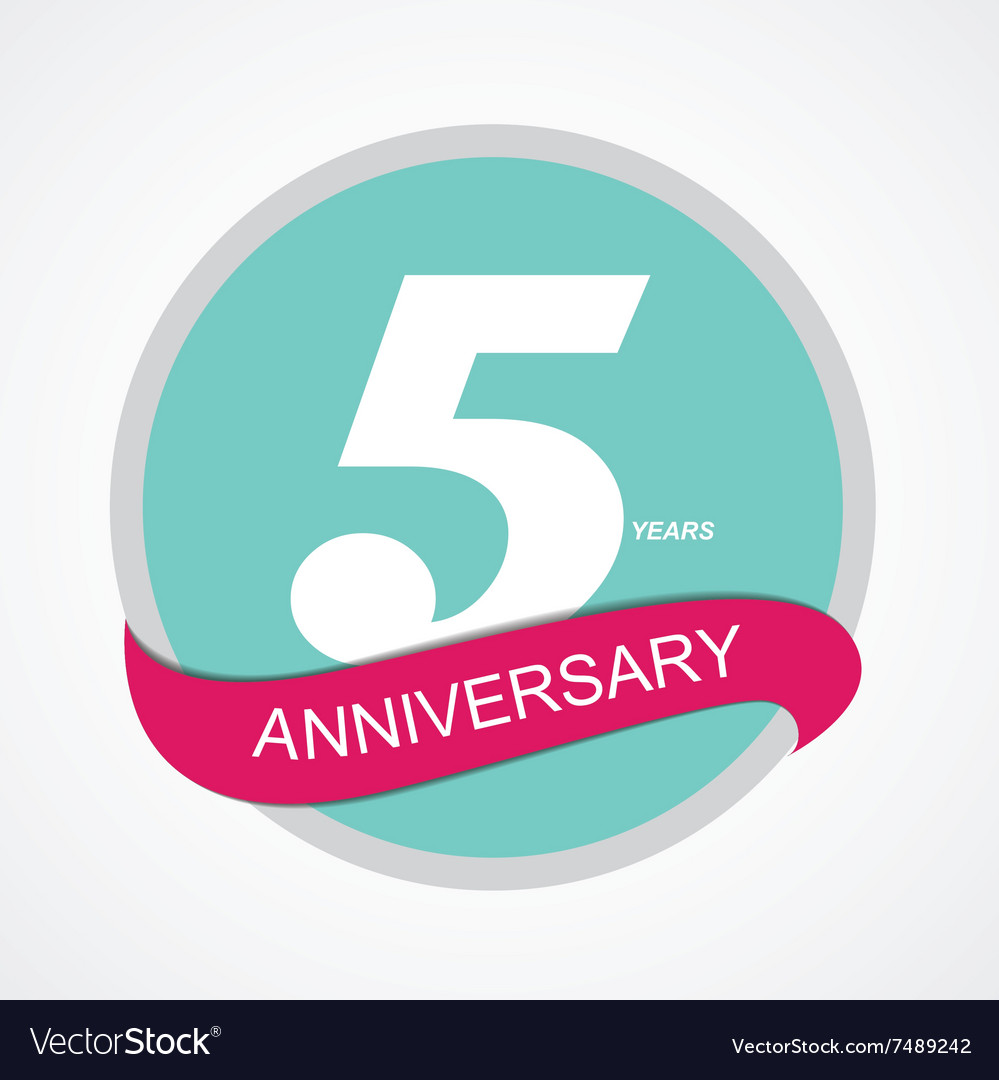 Template logo 5 anniversary vector