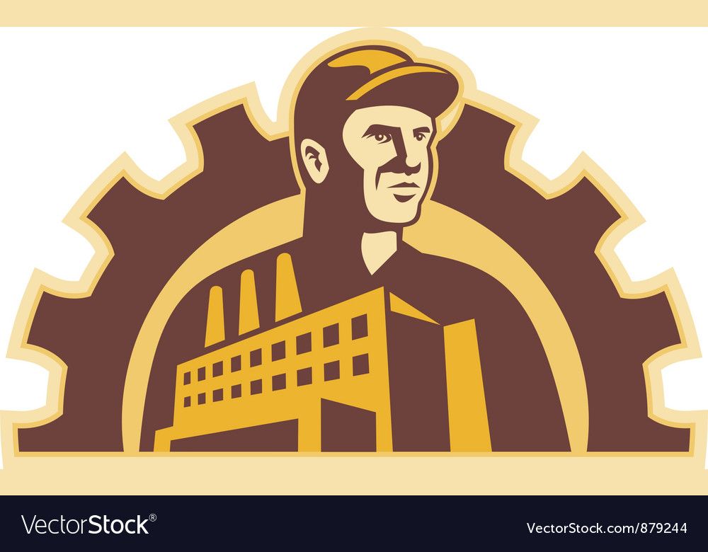 Factory worker vector