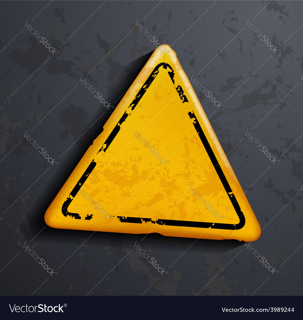Metal warning sign vector