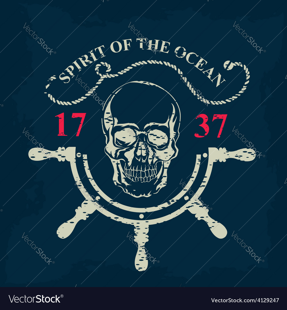 Tshirt print nautical marine badge design vector