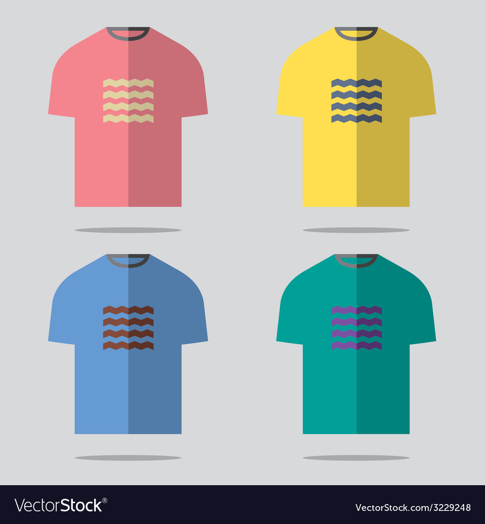 Flat design tshirt set vector