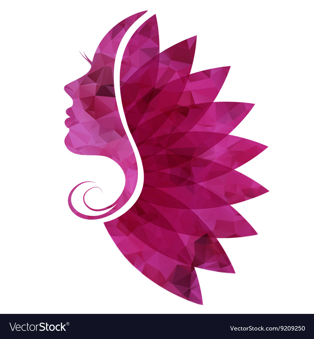 Icon beautiful woman vector