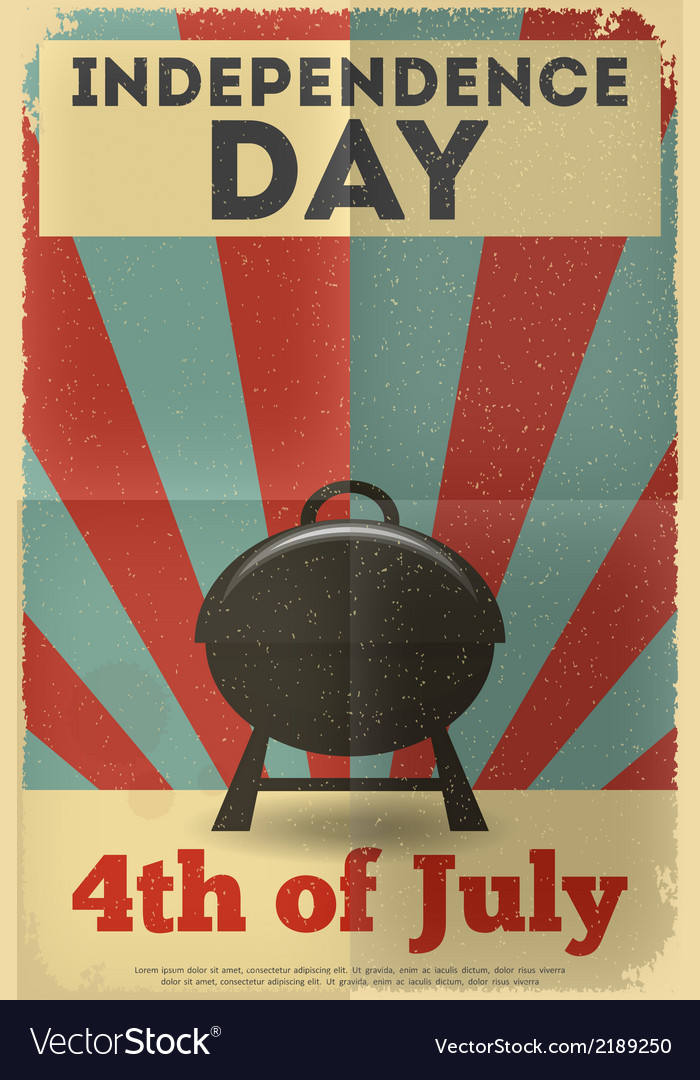 Independence poster bbq vector