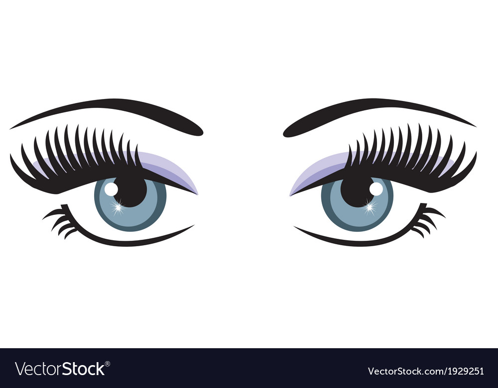 Eyes blue vector