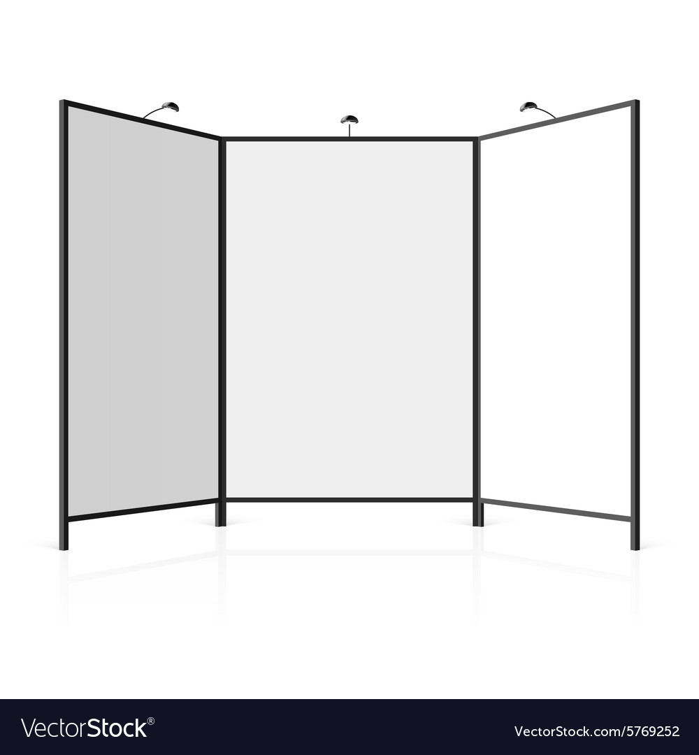 Blank exhibition stand vector