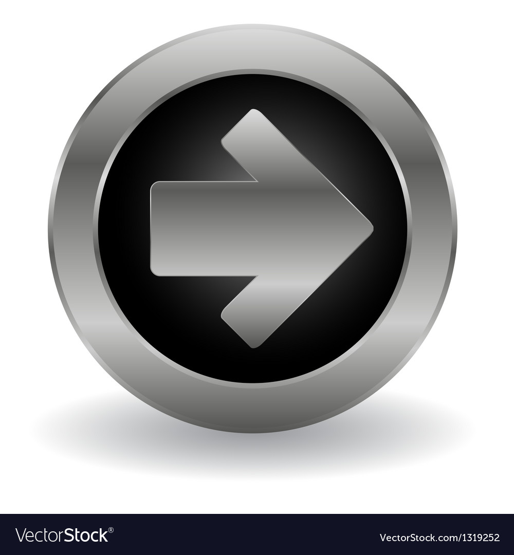 Metallic arrow button vector