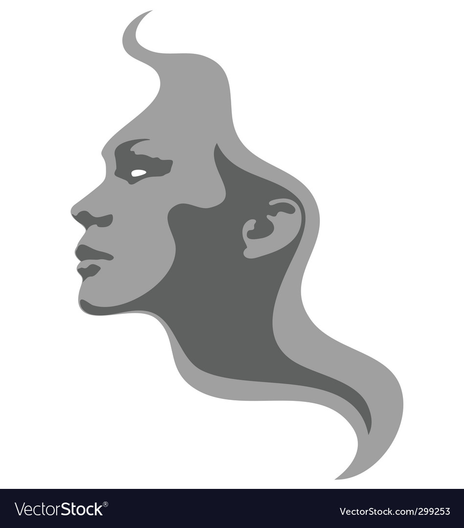 Face fashion design vector