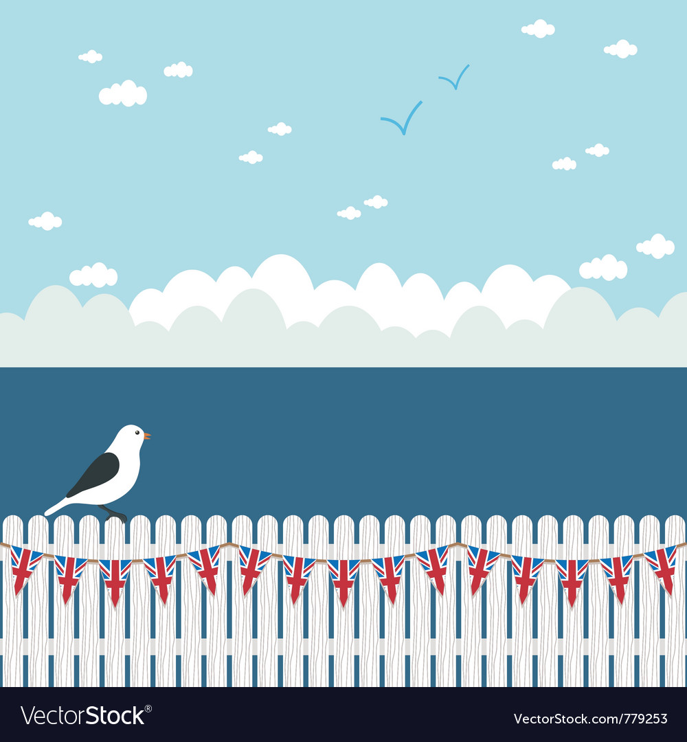 Picket fence bunting vector