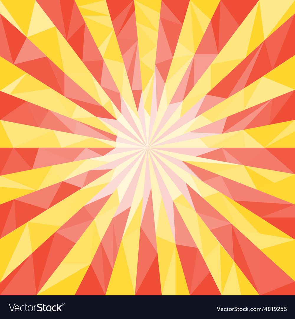 Red yellow polygonal mosaic background vector