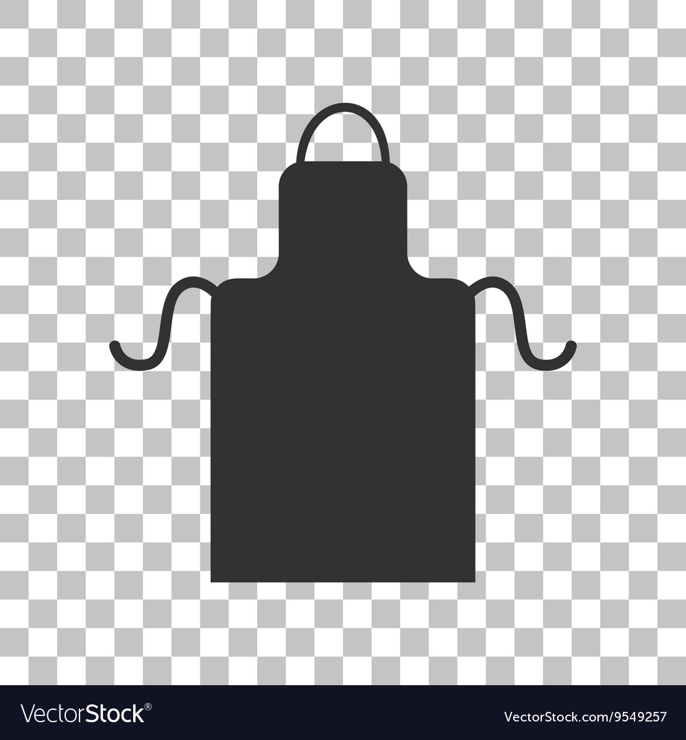 Apron simple sign dark gray icon on transparent vector