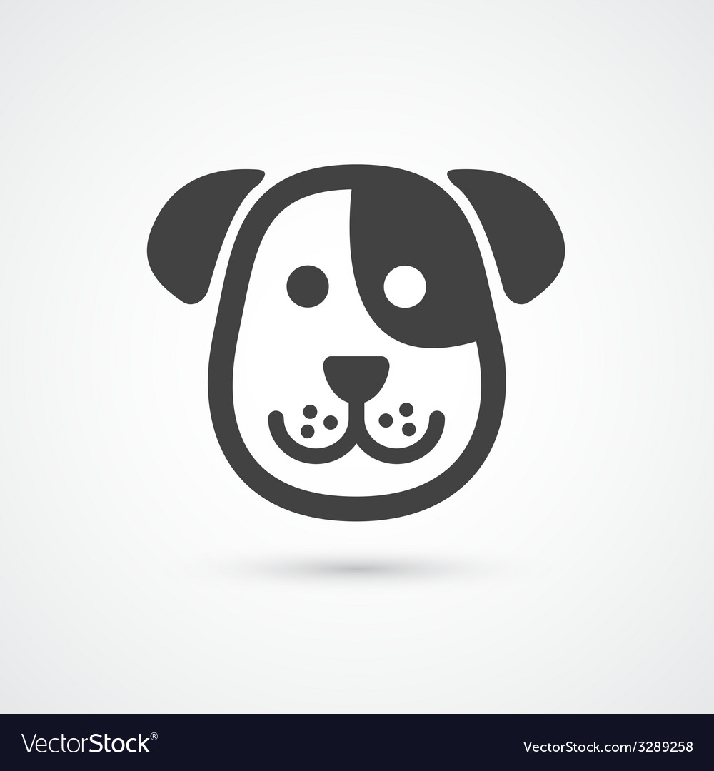 Cute dog icon element for design vector