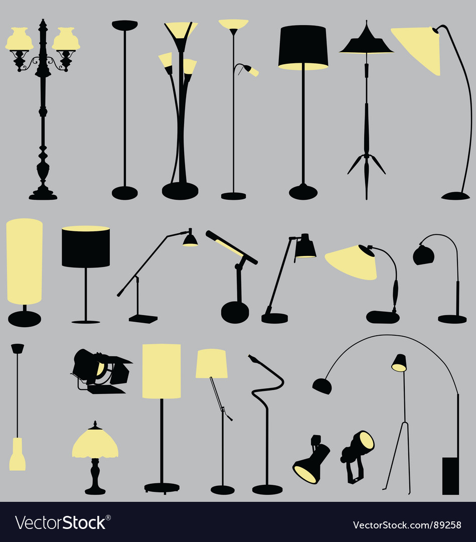 Lamps collection vector