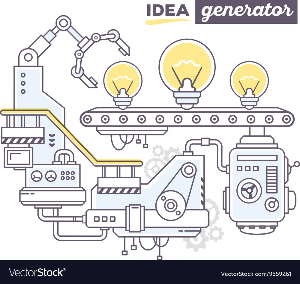Creative professional mechanism to produc vector