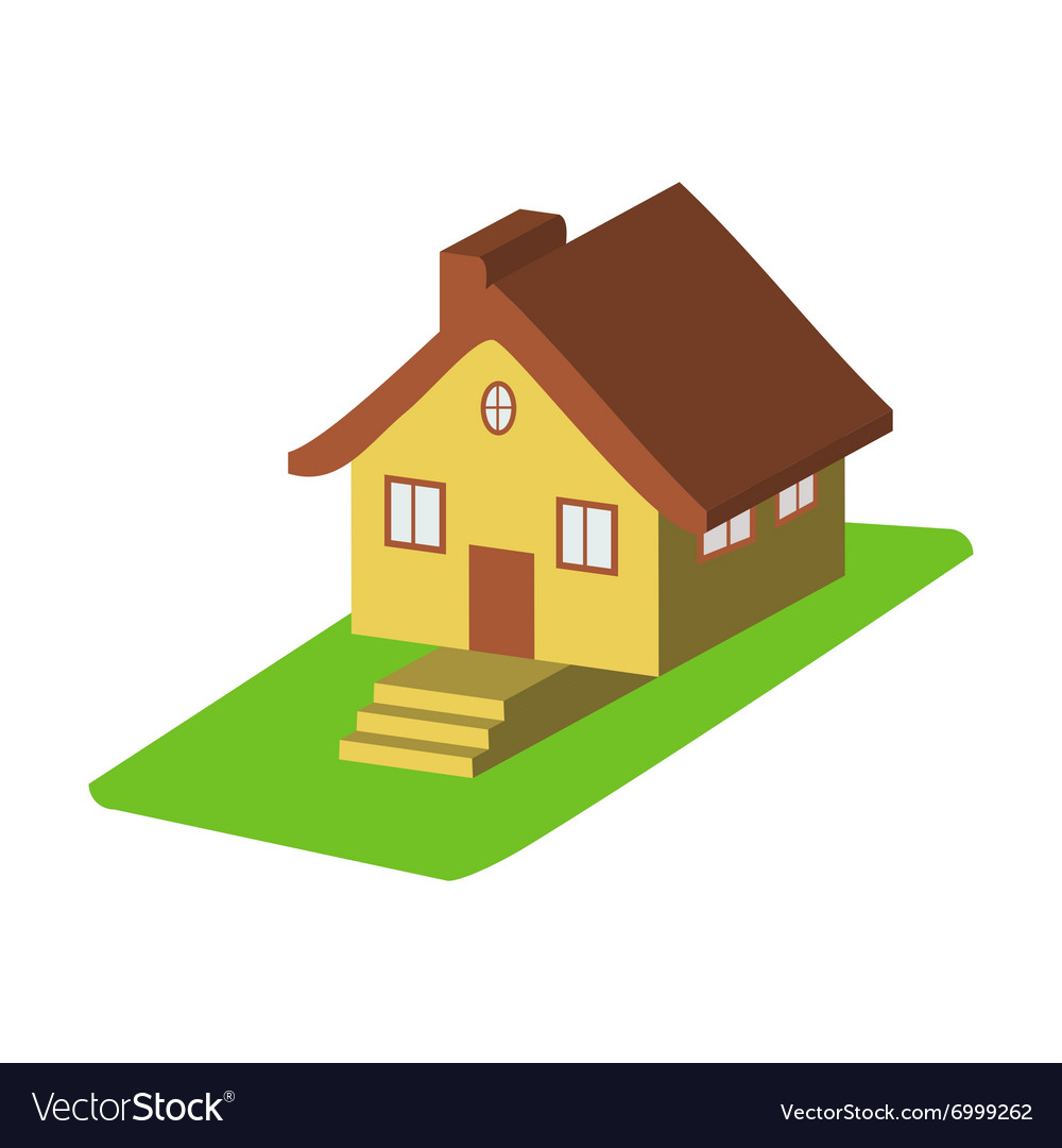 Colorful 3d house cartoon icons isolated vector