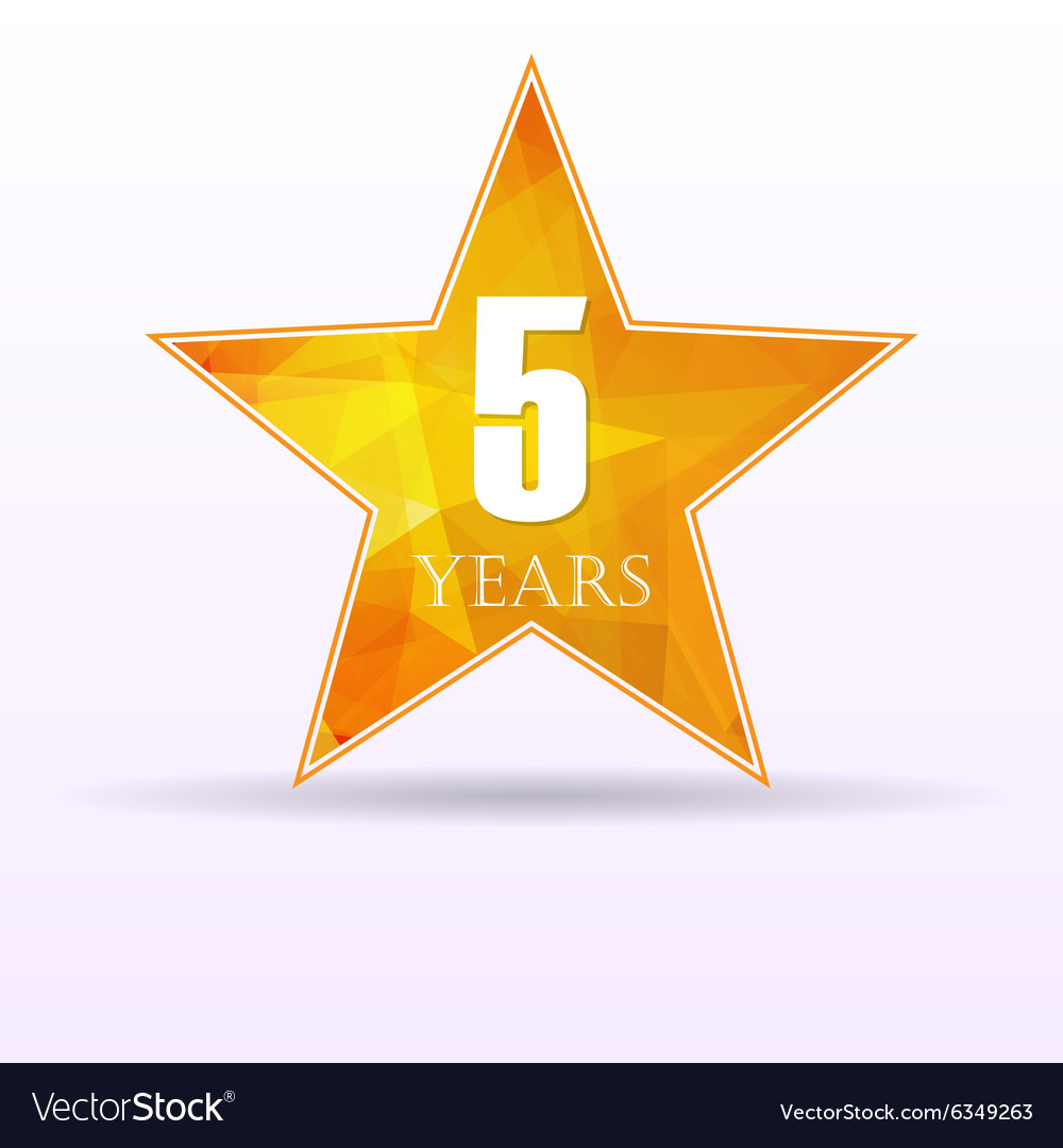 Star background anniversary 5 vector