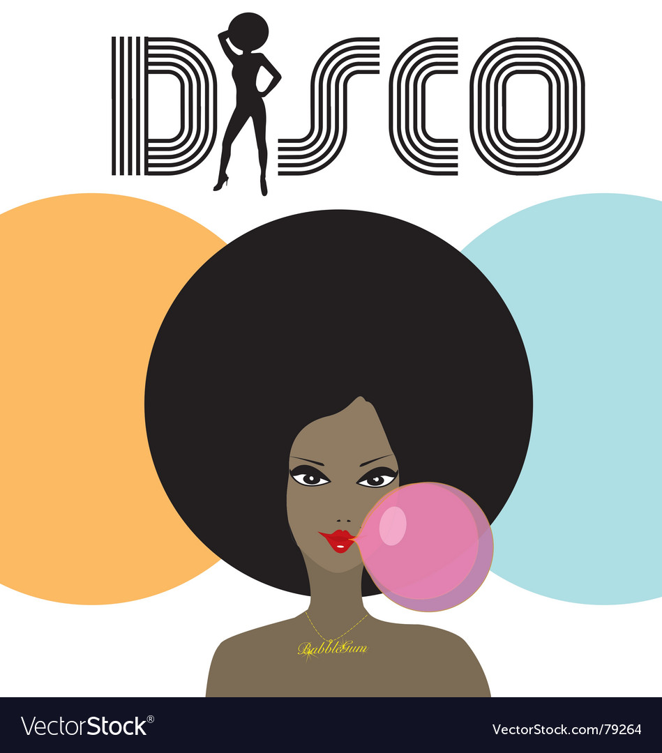 Disco lady vector