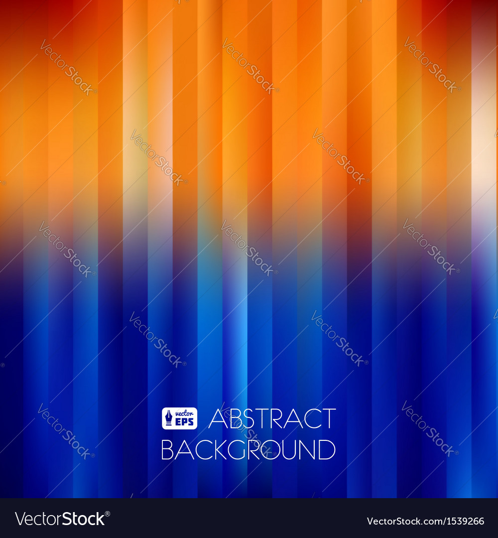 Blueorange abstract striped background vector