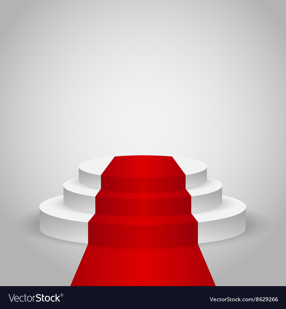 Empty stage podium vector