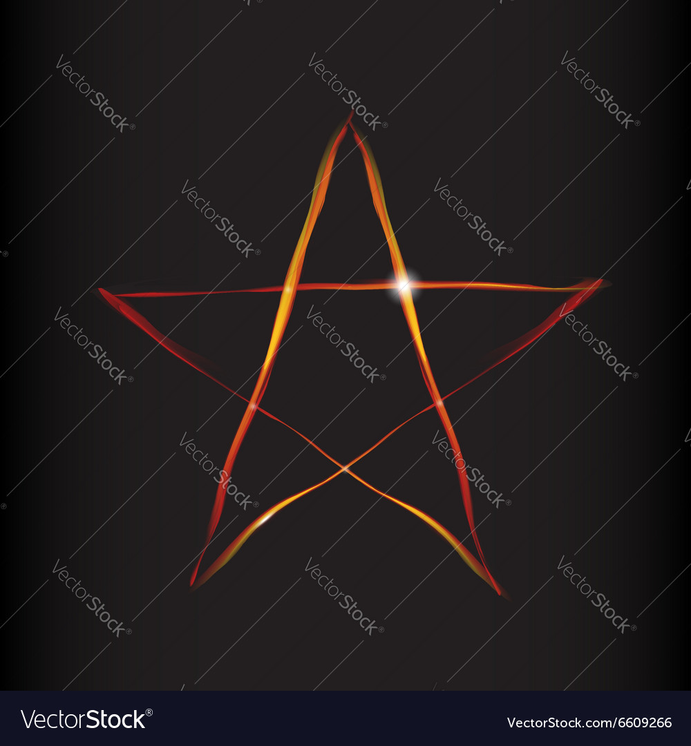 Fire magic star vector