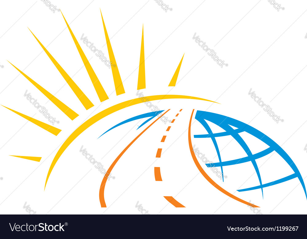 Road across world vector