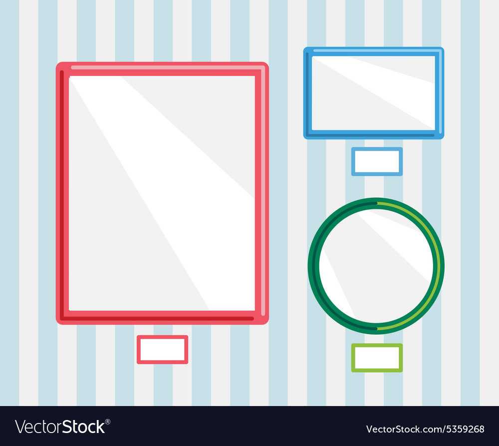 Image frames on wall photo museum or empty wall vector