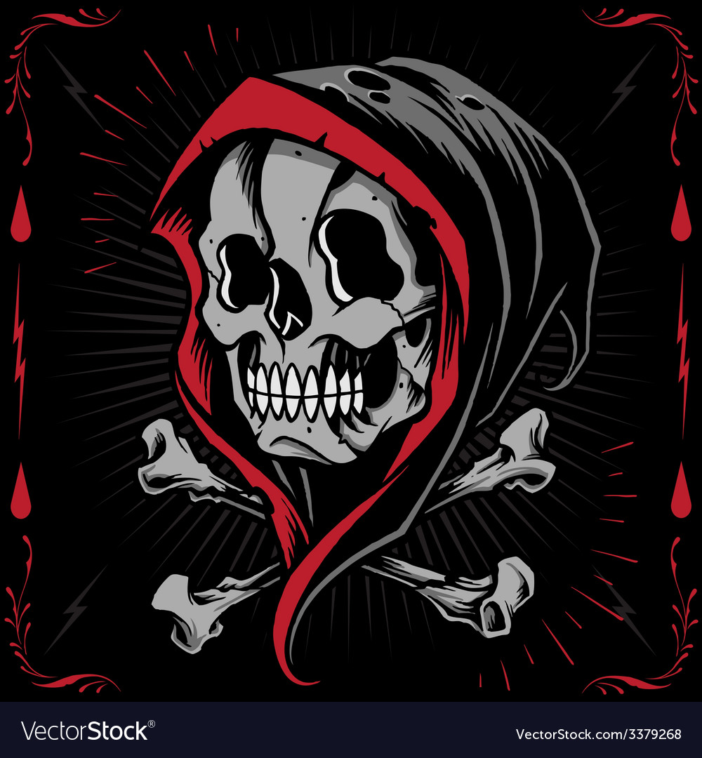 Reaper and bone cross vector