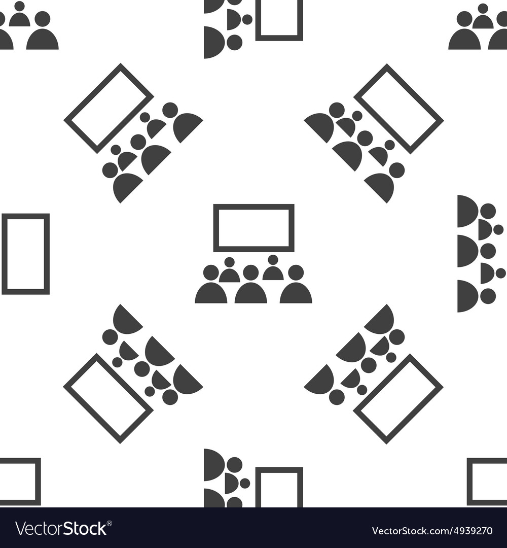 Cinema audience pattern vector
