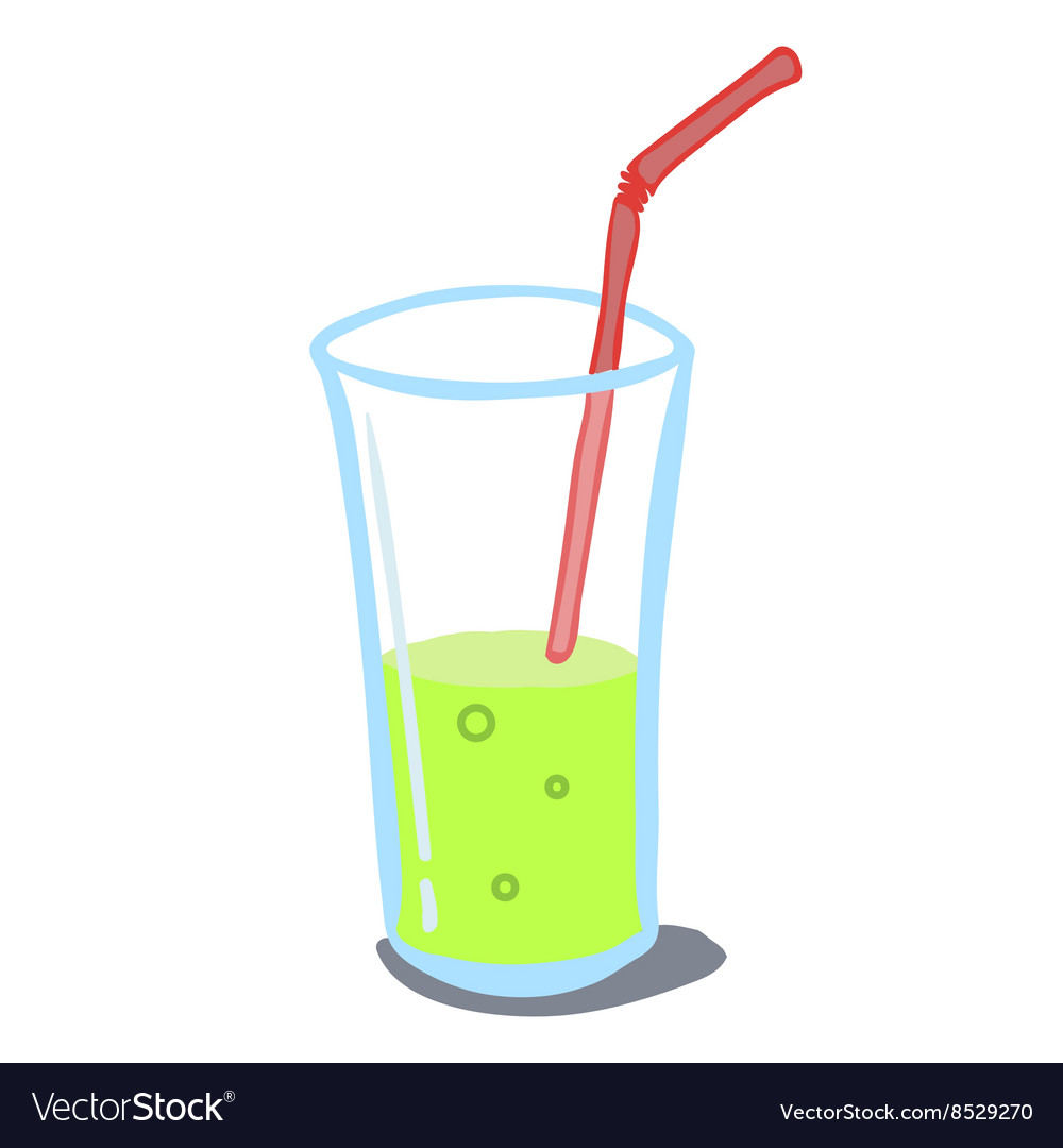 Drink in a glass vector