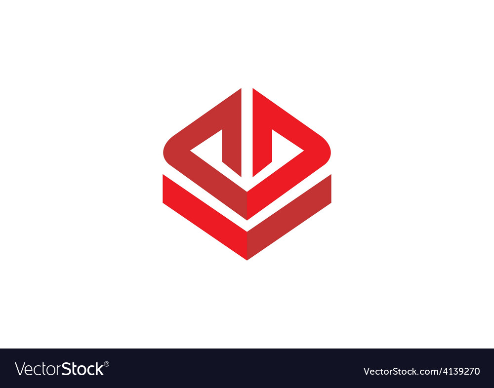 Square abstract construction logo vector