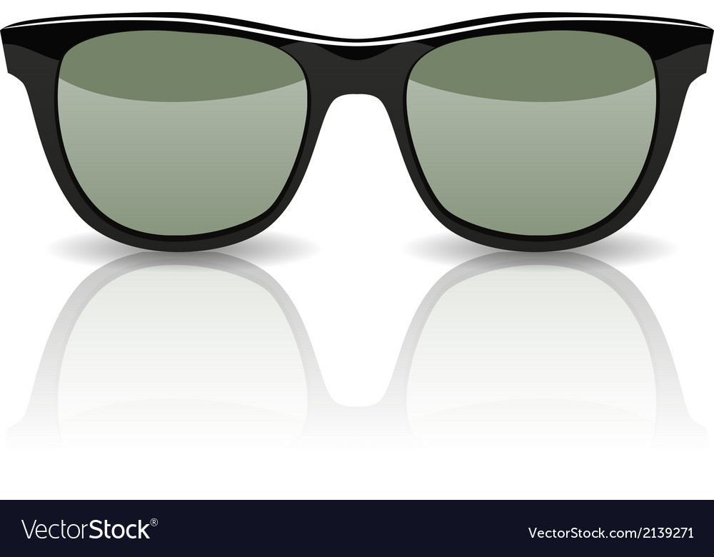 Black glasses isolated on white vector