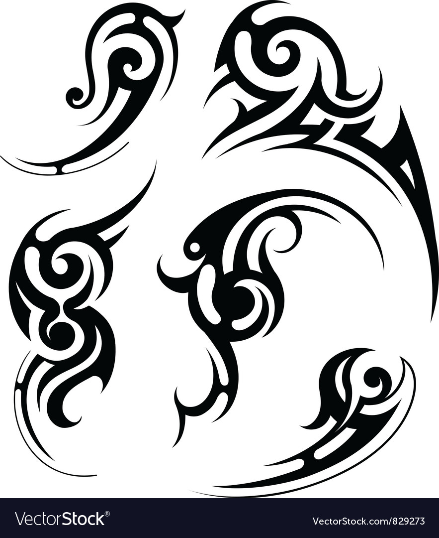 Swirl tattoo vector