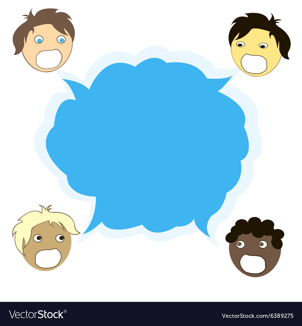 Multicultural dialogue between people of all races vector