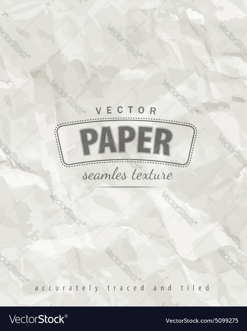 Rumpled paper seamless texture vector