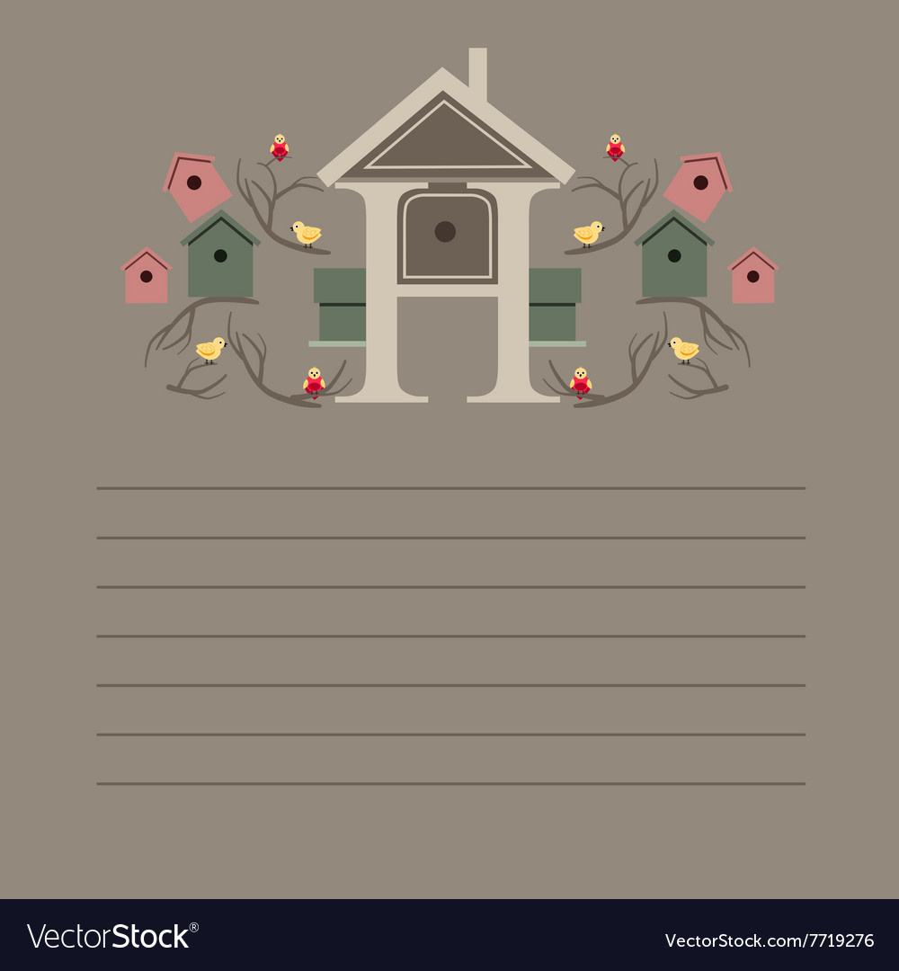 Greeting card with nesting boxes vector