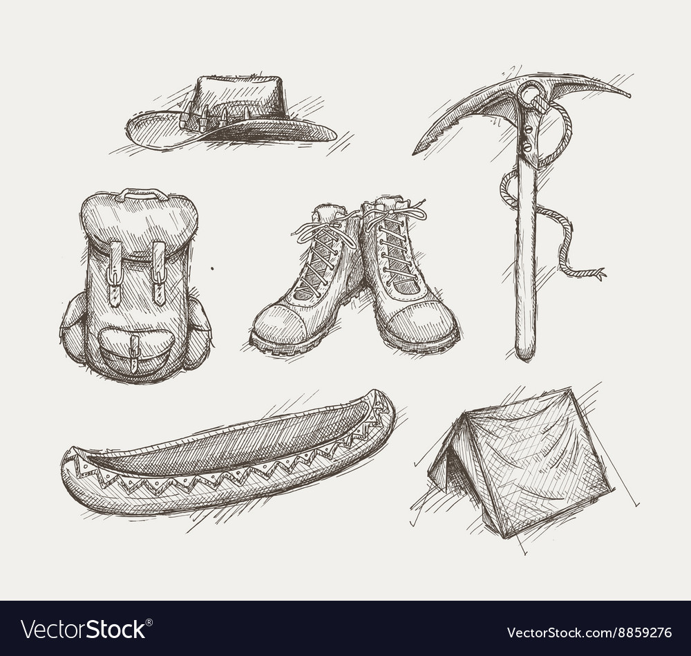 Vintage travel gear vector