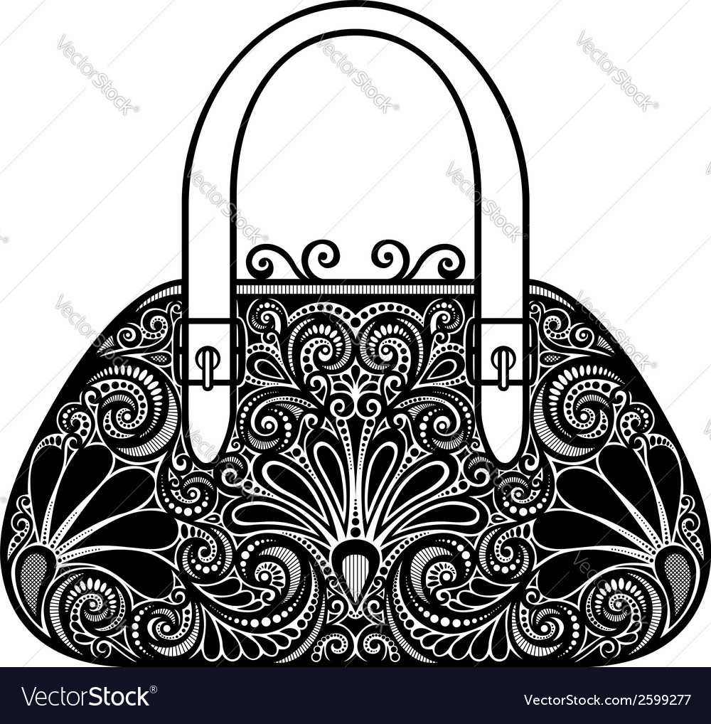 Ornate women bag vector
