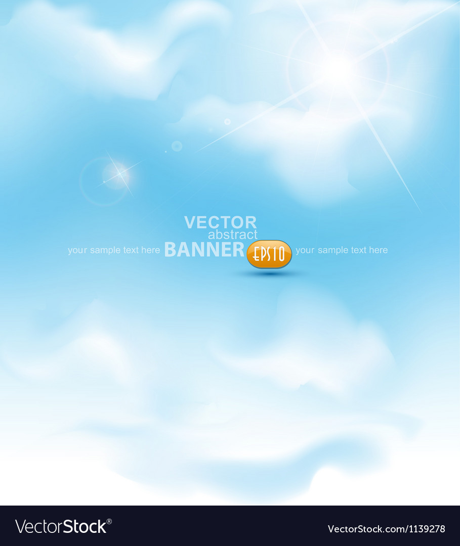 Sky with sun ray vector