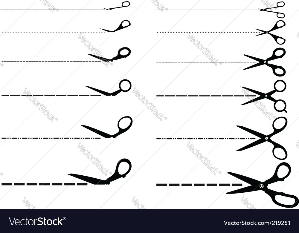Cutting scissors vector