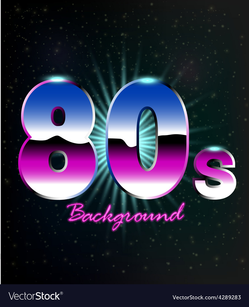 80s retro background vector
