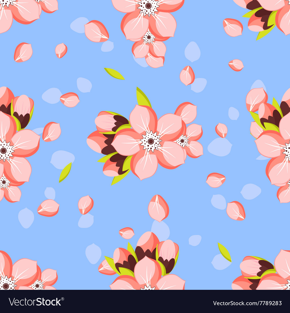 Seamless background with almond or apricot in vector